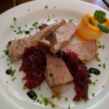 Chicken paste with cranberry jam